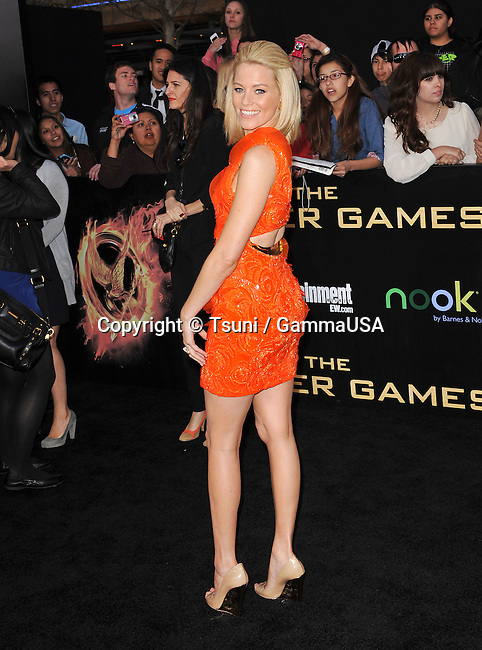 Elizabeth Banks  at The Hunger Games Premiere at the Nokia Theatre in Los Angeles.
