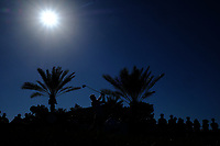 Soren Kjeldsen (DEN) on the 18th tee during the 3rd round of the Abu Dhabi HSBC Championship, Abu Dhabi Golf Club, Abu Dhabi,  United Arab Emirates. 18/01/2020<br /> Picture: Fran Caffrey | Golffile<br /> <br /> <br /> All photo usage must carry mandatory copyright credit (© Golffile | Fran Caffrey)