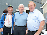 Jim Finnegan, Paddy Arnold and Lal Kavanagh pictured at the 50th anniversary family fun day at Termonfeckin Credit Union. Photo:Colin Bell/pressphotos.ie