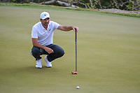 Jason Day (AUS) lines up his putt on 2 during day 2 of the World Golf Championships, Dell Match Play, Austin Country Club, Austin, Texas. 3/22/2018.<br /> Picture: Golffile | Ken Murray<br /> <br /> <br /> All photo usage must carry mandatory copyright credit (&copy; Golffile | Ken Murray)