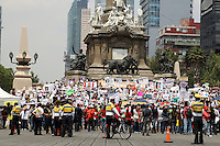 Mexico City, DF May 10, 2014. People take part of a march to demand the government to search and locate their missing children. During the third National March for Dignity.  Miguel Angel Pantaleon/VIEWpress