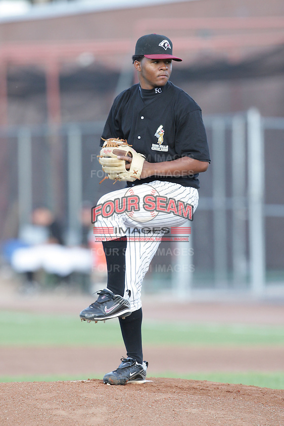 August 11, 2009: Santiago Garrido of the Idaho Falls Chukars. The Chukars are the Pioneer League affiliate for the Kansas City Royals. Photo by: Chris Proctor/Four Seam Images