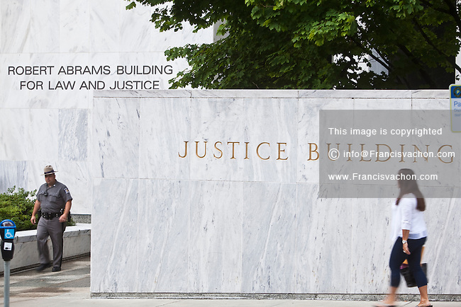 The Robert Abrams Building for Law and Justice is pictured in Albany, NY, Tuesday September 10, 2013. The Legislative Office Building is part of The Governor Nelson A. Rockefeller Empire State Plaza (known commonly as the Empire State Plaza and less formally as the South Mall) and host the NYS Supreme Court, Appellate Division, Third Judicial Department and New York State Court of Claims.