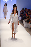 Carolina Coto walks runway at Dorit Swimwear Show during Mercedes Benz IMG Fashion Swim Week 2013 at The Raleigh Hotel, Miami Beach, FL on July 23, 2012