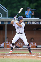 Glen Batson (35) of the High Point-Thomasville HiToms at bat against the Asheboro Copperheads at Finch Field on June 12, 2015 in Thomasville, North Carolina.  The HiToms defeated the Copperheads 12-3. (Brian Westerholt/Four Seam Images)