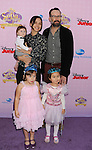 """BURBANK, CA - NOVEMBER 10: Jason Lee and family arrives at the Disney Channel's Premiere Party For """"Sofia The First: Once Upon A Princess"""" at the Walt Disney Studios on November 10, 2012 in Burbank, California."""