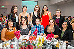Some of the FEXCO staff from Cahersiveen at their Christmas Party in Legends Lounge Waterville on Saturday pictured here front l-r; Áine McGillicuddy, Nicola Coffey, Barry O'Shea, Paula O'Sullivan, Amy Horgan, back l-r; Linda Cronin, Emma Treacy, Kerri Dowling, Rosemarie O'Connell & Marie O'Shea.