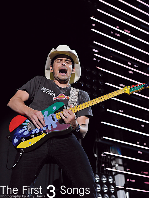 Brad Paisley performs at LP Field during the 2011 CMA Music Festival on June 9, 2011 in Nashville, Tennessee.