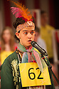 London, UK. 16.04.2015. Mountview Academy of Theatre Arts presents &quot;The 25th Annual Putnam County Spelling Bee&quot;, at Bernie Grant Arts Centre, Tottenham. Music &amp; Lyrics by William Finn, book by Rachel Sheinkin, conceived by Rebecca Feldman, <br /> additional material by Jay Reiss and<br /> directed by Darren Lawrence. Lighting design by Neill Brinkworth. Photograph &copy; Jane Hobson.