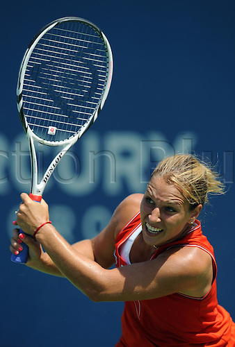 22.07.2012. La Costa, California, USA.  Dominika Cibulkova (SVK) during a finals match against Marion Bartoli (FRA) during the Mercury Insurance Open played at the La Costa Resort and Spa.