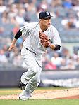 Masahiro Tanaka (Yankees), JULY 9, 2015 - MLB : New York Yankees starting pitcher Masahiro Tanaka runs after throwing the ball during  baseball game against the Oakland Athletics at Yankee Stadium in New York, United States. (Photo by AFLO)