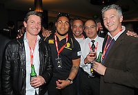 Dave Hughes, Ma'a Nonu, Richard Nikora, Reef Reid and Mike Swift at the Wellington Lions Ricoh jersey launch at Black Sparrow Bar, Embassy Theatre, Wellington, New Zealand on Wednesday, 1 August 2012. Photo: Dave Lintott / lintottphoto.co.nz