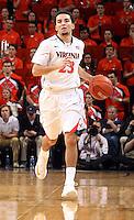 Virginia guard London Perrantes (23) during an NCAA basketball game Monday Jan. 20, 2014 in Charlottesville, VA. Virginia defeated North Carolina 76-61.