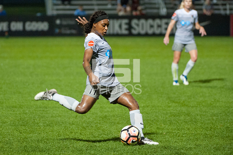 Kansas City, MO - Thursday August 10, 2017: Taylor Smith during a regular season National Women's Soccer League (NWSL) match between FC Kansas City and the North Carolina Courage at Children's Mercy Victory Field.