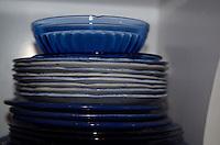 Stack of Plates, Nana's House, Castine, Maine, US