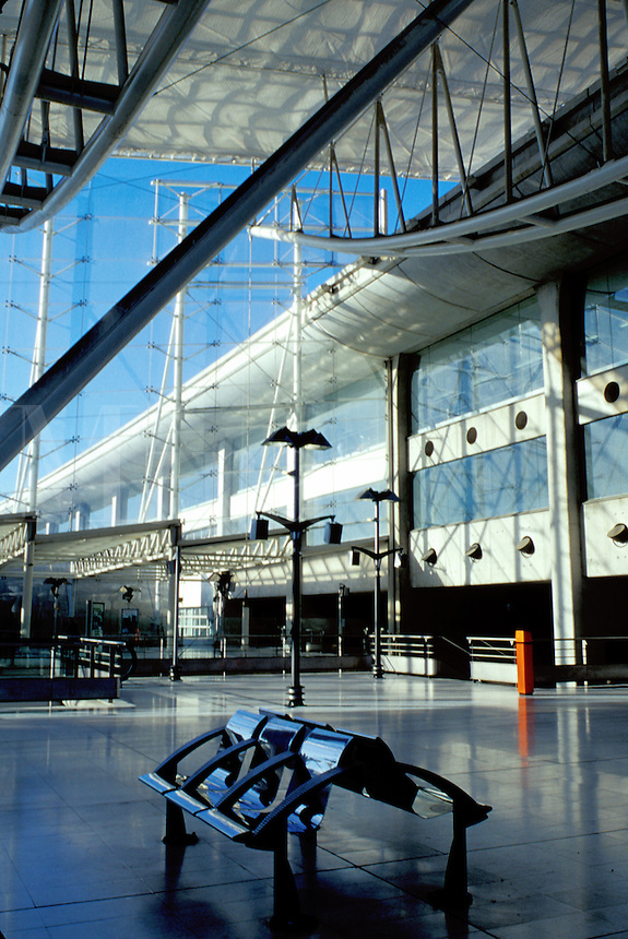 Charles de Gaulle, Paris, airport, train station, France, Europe, TGV Train Station at the Roissy/Charles de Gaulle Airport in Paris.