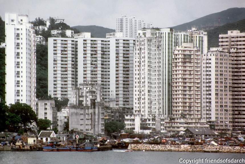 Hong Kong: High-rise housing. Photo '81.