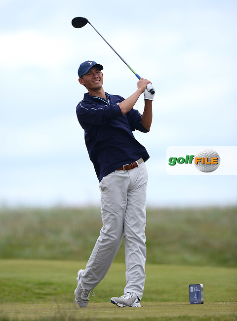 Frederick Wedel of USA during the First Round of the 120th Amateur Championship at Carnoustie Golf Links, Carnoustie, Scotland. Picture: Golffile   Richard Martin Roberts<br /> All photo usage must carry mandatory copyright credit (&copy; Golffile   Richard Martin Roberts)