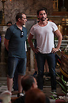 Spanish film director Paco Leon and actor Luis Callejo during `Kiki´ film production in Madrid, Spain. August 31, 2015. (ALTERPHOTOS/Victor Blanco)