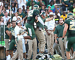 Baylor Bears defensive end Jamal Palmer (92) in action during the game between the Wofford Terriers and the Baylor Bears at the Floyd Casey Stadium in Waco, Texas. Baylor leads Woffard 38 to 0 at halftime.