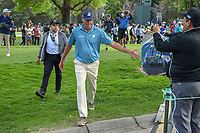 Matt Kuchar (USA) shakes hands with fans enroute to the tee on 16 during round 3 of the World Golf Championships, Mexico, Club De Golf Chapultepec, Mexico City, Mexico. 2/23/2019.<br /> Picture: Golffile | Ken Murray<br /> <br /> <br /> All photo usage must carry mandatory copyright credit (© Golffile | Ken Murray)