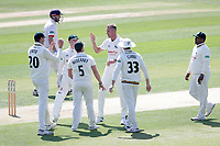 Stuart Broad celebrates with his team mates after taking the wicket of Tom Westley during Essex CCC vs Nottinghamshire CCC, Specsavers County Championship Division 1 Cricket at The Cloudfm County Ground on 15th May 2019