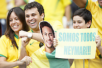 Brazil fans show their support for Neymar