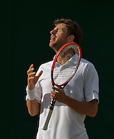 England, London, 25.06.2014. Tennis, Wimbledon, AELTC, Robin Haase (NED)) is disappointed<br /> Photo: Tennisimages/Henk Koster