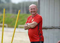 20180304 - LARNACA , CYPRUS :  Belgian teammanager Rudy Vanderelst pictured during a Matchday -1 training from The Belgian Red Flames prior to their game against Austria , on Sunday 4 March 2018 at the Alpha Sports Grounds in Larnaca , Cyprus . This will be the third game in group B for Belgium during the Cyprus Womens Cup , a prestigious women soccer tournament as a preparation on the World Cup 2019 qualification duels. PHOTO SPORTPIX.BE | DAVID CATRY