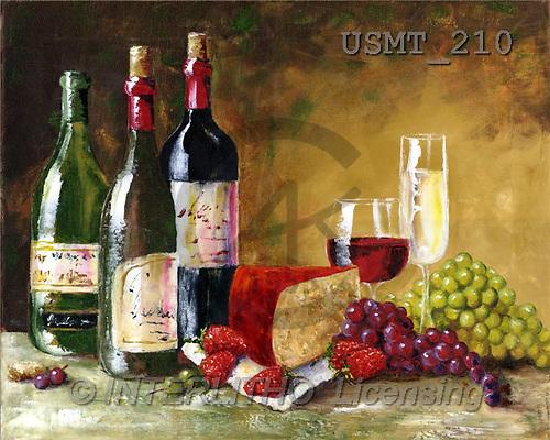 Malenda, STILL LIFES, paintings, wine&dineII(USMT210,#I#) Stilleben, naturaleza muerta, illustrations, pinturas