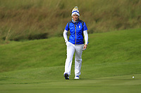 Suzann Pettersen (EUR) on the 1st green during Day 3 Singles at the Solheim Cup 2019, Gleneagles Golf CLub, Auchterarder, Perthshire, Scotland. 15/09/2019.<br /> Picture Thos Caffrey / Golffile.ie<br /> <br /> All photo usage must carry mandatory copyright credit (© Golffile | Thos Caffrey)