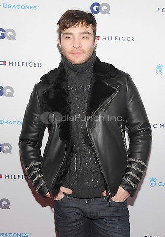 New York, NY- December 11: Ed Westwick attends the Tommy Hilfiger and GQ event honoring The Men Of New York at the Tommy Hilfiger Flagship on December 11, 2014 in New York City. Credit: John Palmer/MediaPunch