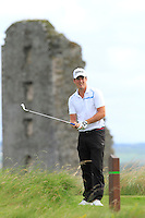 Colin Fairweather (Knock) on the 13th tee during Round 3 of The South of Ireland in Lahinch Golf Club on Monday 28th July 2014.<br /> Picture:  Thos Caffrey / www.golffile.ie
