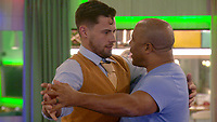 Andrew Brady and John Barnes.<br /> Celebrity Big Brother 2018 - Day 8<br /> *Editorial Use Only*<br /> CAP/KFS<br /> Image supplied by Capital Pictures