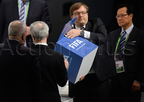 26.02.2016. Zurich, Switzerland.  FIFA-officials count the ballots for the president's second set of voting elections, during the Extraordinary FIFA Congress 2016 held at the Hallenstadion in Zurich, Switzerland during the Extraordinary FIFA Congress 2016 held at the Hallenstadion in Zurich, Switzerland, 26 February 2016. The Extraordinary FIFA Congress is being held in order to vote on the proposals for amendments to the FIFA Statutes and choose the new FIFA President.