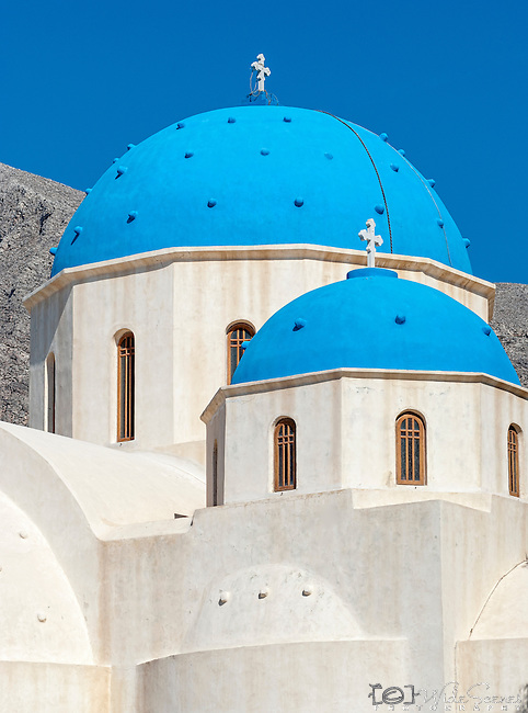 Church of Agia Eirini in Perissa, Santorini, Greece