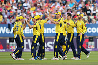 Hampshire's Chris Wood celebrates with his team mates after taking the wicket of Notts Outlaws' Alex Hales <br /> <br /> Photographer Andrew Kearns/CameraSport<br /> <br /> NatWest T20 Blast Semi-Final - Hampshire v Notts Outlaws - Saturday 2nd September 2017 - Edgbaston, Birmingham<br /> <br /> World Copyright &copy; 2017 CameraSport. All rights reserved. 43 Linden Ave. Countesthorpe. Leicester. England. LE8 5PG - Tel: +44 (0) 116 277 4147 - admin@camerasport.com - www.camerasport.com