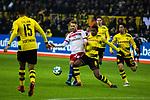 10.02.2018, Signal Iduna Park, Dortmund, GER, 1.FBL, Borussia Dortmund vs Hamburger SV, <br /> <br /> im Bild | picture shows:<br /> Aaron Hunt (Hamburger SV #14) gegen Manuel Akanji (Borussia Dortmund #16), <br /> <br /> <br /> Foto &copy; nordphoto / Rauch