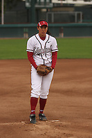 29 October 2007: Ashley Chinn during practice at the Boyd and Jill Smith Stadium in Stanford, CA.