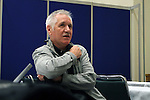 19 January 2013: The United States Women's National Team head coach Tom Sermanni (SCO) talked to members of the media at the Indiana Convention Center in Indianapolis, Indiana during the NSCAA annual convention.