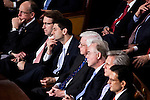 Rep. Paul Ryan (R-WI), third from left, listens as President Barack Obama delivers his State of the Union address in the U.S. Capitol on Tuesday, January 24, 2012 in Washington, DC.