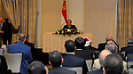 Egyptian President Abdel Fattah al-Sisi speaks during a meeting with representatives of the Egyptian community in the United States, in Washington, United States on April 03, 2017. Photo by Egyptian President Office