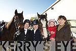 Nora, Hannah, Katelyn and Maureen O'Donovan, Killarney, at  the Kingdom Hunt club hunt in Killarney on Sunday.