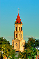 Bell Tower of St. Augustine's Cathedral -Basilica home of the First Parish in the United States