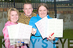 .BINGO: Regina Murphy, Anthony Fletton and Kirsti Jones from Rathoonane area who supported the first ever bingo in the Rathoonane Community Centre on Tuesday evening.....