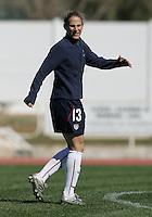 MAR 11, 2006: Quarteira, Portugal:  USWNT midfielder Kristine Lilly