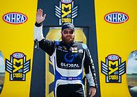 Jun 11, 2017; Englishtown , NJ, USA; NHRA top fuel driver Shawn Langdon during the Summernationals at Old Bridge Township Raceway Park. Mandatory Credit: Mark J. Rebilas-USA TODAY Sports