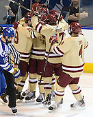 Chris Kreider (BC - 19), Kevin Hayes (BC - 12), Destry Straight (BC - 17), Tommy Cross (BC - 4) - The Boston College Eagles defeated the Air Force Academy Falcons 2-0 in their NCAA Northeast Regional semi-final matchup on Saturday, March 24, 2012, at the DCU Center in Worcester, Massachusetts.