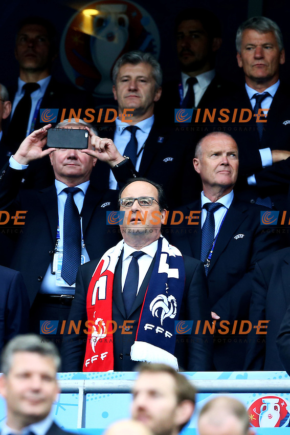 Francois Hollande <br /> Paris 10-06-2016 Stade de France football Euro2016 France - Romania  / Francia - Romania Group Stage Group A. Foto Matteo Ciambelli / Insidefoto