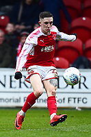 Fleetwood Town's Ashley Hunter in action<br /> <br /> Photographer Richard Martin-Roberts/CameraSport<br /> <br /> The EFL Sky Bet League One - Fleetwood Town v Plymouth Argyle - Saturday 10th March 2018 - Highbury Stadium - Fleetwood<br /> <br /> World Copyright &copy; 2018 CameraSport. All rights reserved. 43 Linden Ave. Countesthorpe. Leicester. England. LE8 5PG - Tel: +44 (0) 116 277 4147 - admin@camerasport.com - www.camerasport.com
